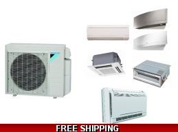 Daikin Custom Multi 2-4 Zone Mini Split Heat Pump Air Conditioner