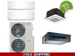 C&H 2×24000btu Mini-Split Heat Pump AC Ductless ..