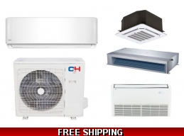 C&H 18000 BTU Ductless Heat Pump AC Floor Ceiling Cassette Ducted