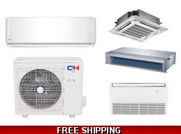 C&H 24000 BTU Ductless Heat Pump AC Floor Ceiling Cassette Ducted