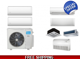 Midea 2 Zone 21 SEER Ductless Mini Split Heat Pu..