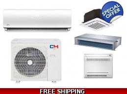C&H 12000 BTU Ductless Hyper Heat Pump AC Casset..