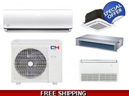 C&H 24000 BTU Ductless Hyper Heat Pump AC Casset..