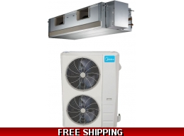 Midea 60000 Btu 18 SEER Mid Static Ducted Heat Pump AC