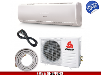 Chigo 18000 Btu 19 Seer Ductless Heat Pump Air Conditioner