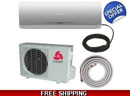 Chigo 12000 Btu 16 SEER 110V Ductless Mini Split  Heat Pump AC