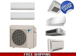Daikin 2X18000 Btu Dual Zone Mini Split Heat Pump Air Conditioner