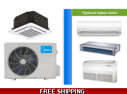 Midea 18000 BTU Mini Split Hyper Heat Pump AC Cassette Ductless Ducted