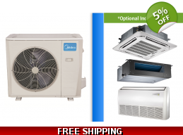 Midea 36000 BTU Mini Split Heat Pump AC Ductless Cassette Ducted