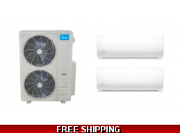 Midea 2×24000btu Mini Split Heat Pump AC Cassette Ducted Options