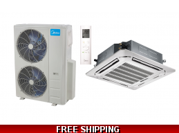 Midea 48000BTU Ceiling Cassette Mini Split Heat Pump AC Console Ducted