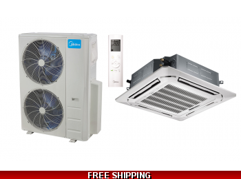 Midea 48000 BTU Mini Split Heat Pump AC Ductless Ceiling Cassette