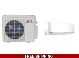C&H 12000 BTU Ductless Mini Split Hyper Heat Pump AC Cassette Ducted