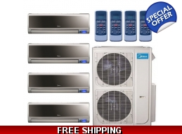 Midea 20.5 Seer 2x9000+12000+18000 Vertu 3Zone Mini Split Heat Pump AC