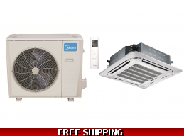 Midea 36000 BTU Mini Split Heat Pump AC Ductless Ceiling Cassette