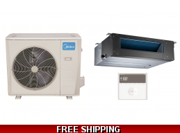 Midea 36000 BTU Mini Split Heat Pump AC Slim Ducted