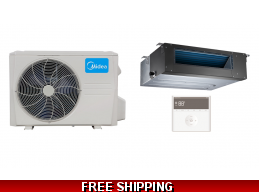 Midea 9000 Btu Slim Ducted Mini Split Hyper Heat Pump AC 19 SEER