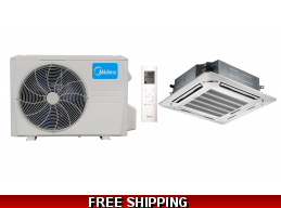 Midea 24000 BTU Mini Split Hyper Heat Pump AC Cassette Ductless Ducted
