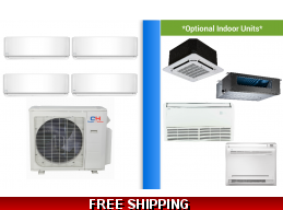 C&H 4 Zone 36K Mini Split Heat Pump AC Ductless Cassette Ducted