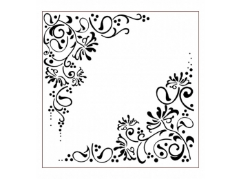Imagination Crafts Stencil - Honey Suckle