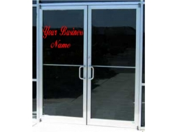 Business Sign Custom Personalized Vinyl Sticker Sign Window Door Glass 12X20