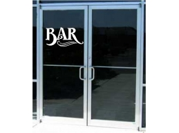 Bar Business Sign Vinyl..
