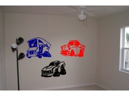 Cars Hot Rods Wall Stic..