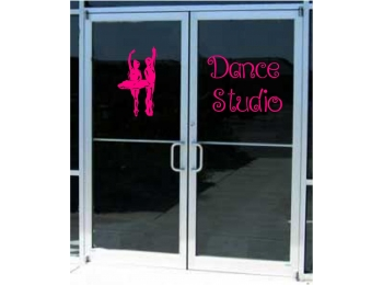 Dance Ballet Studio Business Sign Vinyl Decal Sticker Sign Window Door Glass