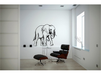 Elephant Wall Sticker Wall Art Decor Vinyl Decal Sticker Mural Huge!!