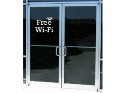 FREE WI FI WINDOW DECAL STICKER BUSINESS SIGN 6x4