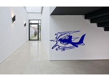 Great White Shark Wall Sticker Wall Art Decor Vinyl Decal Mural Stickers Huge!