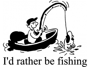 I'd Rather be Fishing Window Decal Sticker Vinyl Truck Car