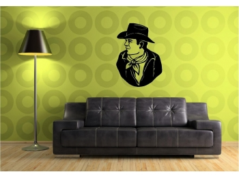 John Wayne Wall Sticker Wall Art Vinyl Decals Wall Decor Wall Stickers Westerns