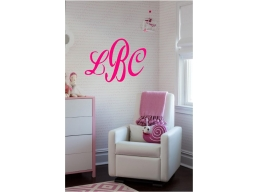 Monogram Personalized Wall Sticker Wall Art Decor Vinyl Decal Mural Stickers