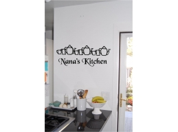 Nana's Kitchen Teapots Personalized Kitchen Wall Sign Sticker Wall Art