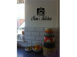 Personalized Kitchen Sign & Coffee Cup Wall Sticker