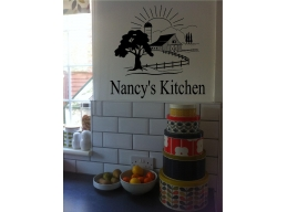 Personalized Kitchen Sign Farm Barn Country Wall Sticker