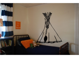Tee Pee Wall Sticker Wa..