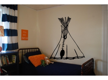 Tee Pee Wall Sticker Wall Kids Room Art Decor