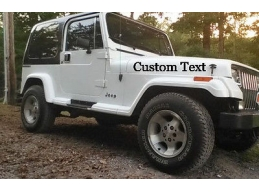 Your Custom Text Hood Window Decal Sticker Kit