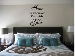 Home is Wherever I'm With You Wall Sticker Wall Art Decor Vinyl Words & Phrases