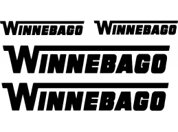 Winnebago 4 pc Camper RV Vinyl Decal Sticker Camper Graphics Stickers 4pc