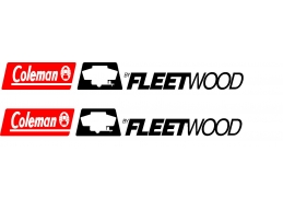 2 pc Fleetwood Coleman Camper RV Vinyl Decal  15x1.7