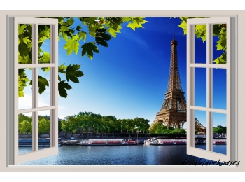 Eiffel Tower Paris Window