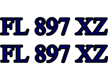 Custom Boat Number Sticker Decals 3x20 set of 2  Choose 2 Colors!