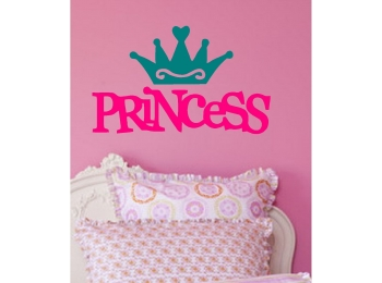 Princess & Crown Wall Sticker 2 Colors