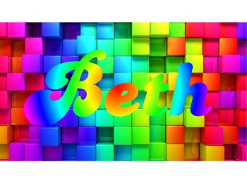 Rainbow Blocks &  Personalized Name Color Print Sticker Mural