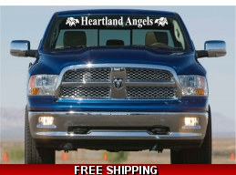Truck Windshield Banner lettering 5.5x48