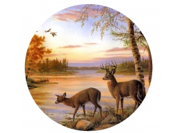 Deer Camper Graphic Sticker 24 in x 24 in