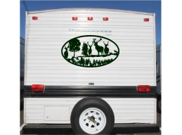 Deer Landscape Camper RV Vinyl Decal Sticker 23x42 Camper Graphics Stickers